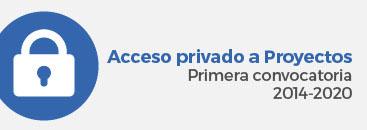 Acceso privado a Proyectos Primera convocatoria