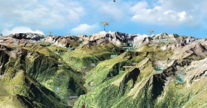 Montaña, Vallee, Mapa 3D, Monte Perdido, Gavarnie